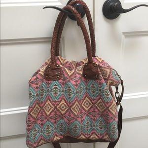 Handbags - Shoulder Bag Purse Boho Crossbody Leather Brown